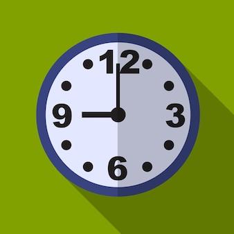 Horloge plate icône illustration isolé vecteur signe symbole