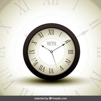 Horloge réaliste isolé