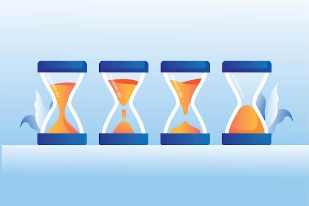 Horloge de sable antique sprite concept de processus de verre d'heure