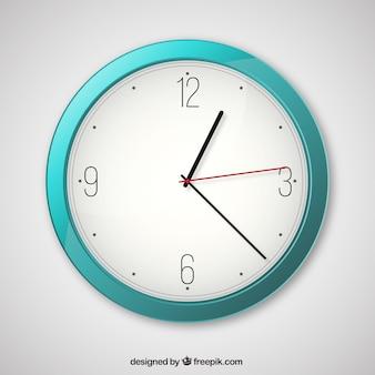 Horloge turquoise