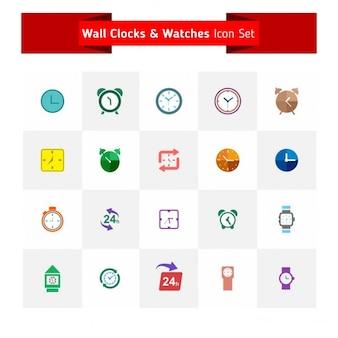 Horloges icons set