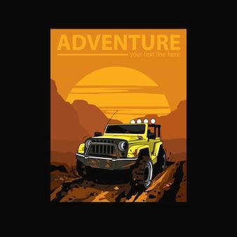 Hors route dans le désert