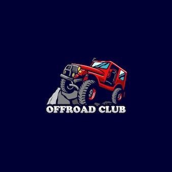 Hors route voitures terre roue auto rock logo