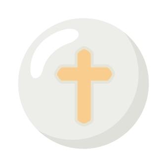 Hostie de première communion avec croix