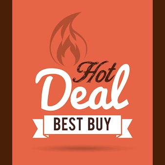 Hot deal design, illustration vectorielle illustration eps10