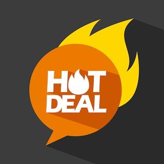 Hot deal design, illustration vectorielle illustration eps10