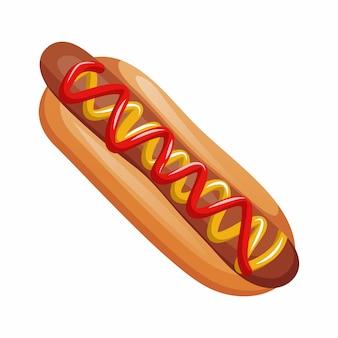 Hot dog sur blanc