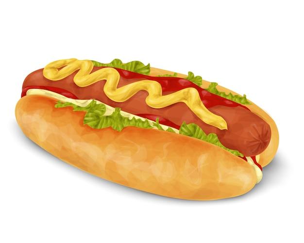 Hot dog isolé