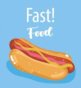 Hot-dog de restauration rapide