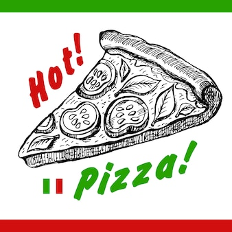 Hot pizza illustration