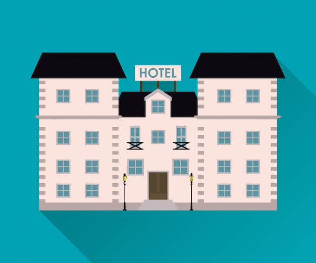 Un hôtel. icône de service.