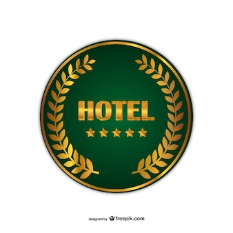 Hôtel insigne vecteur