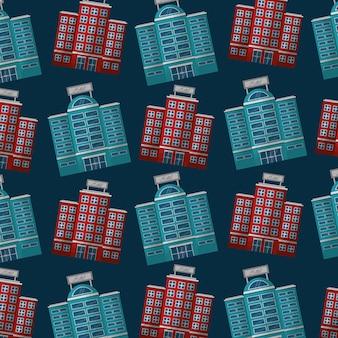 Hôtels fond de l'immeuble façade