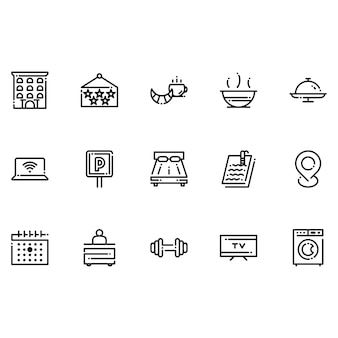Hôtels et icônes d'accueil