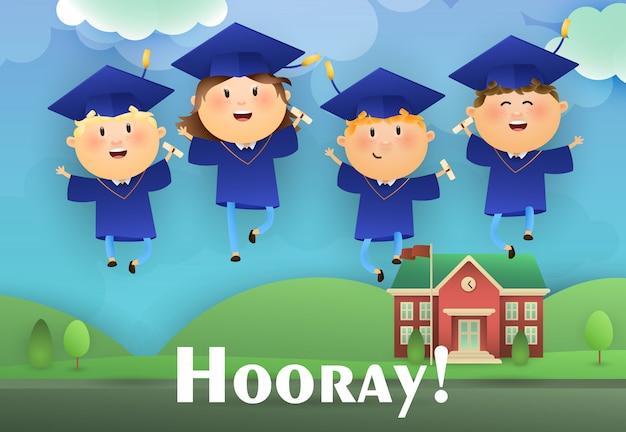 Hourra conception d'affiche de remise des diplômes