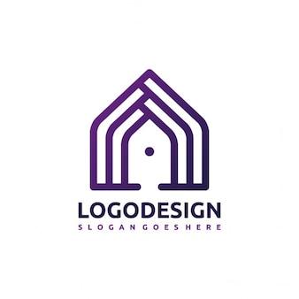 House et les bâtiments logo