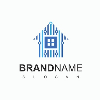 House of technology logo startup company symbole