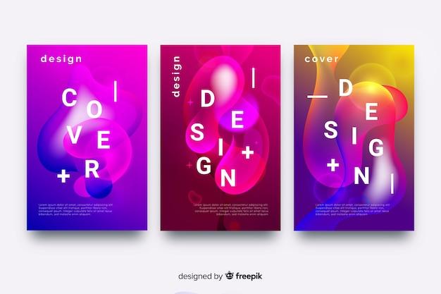 Housse design effet glitch coloré