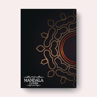 Housse de mandala de luxe de couleur foncée