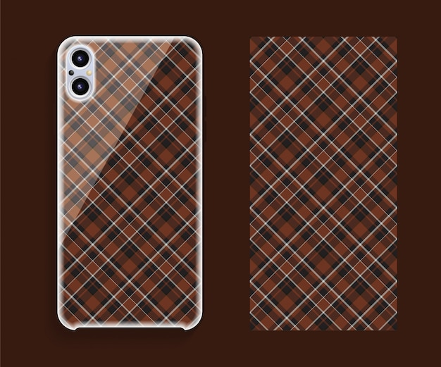 Housse de smartphone motif tartan