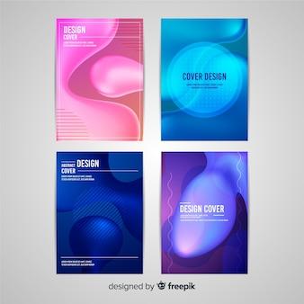 Housses design à effet liquide coloré