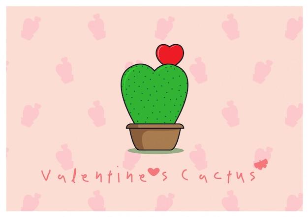 Hoya cactus avec coeur rouge fleur en pot d'arbre et libellé