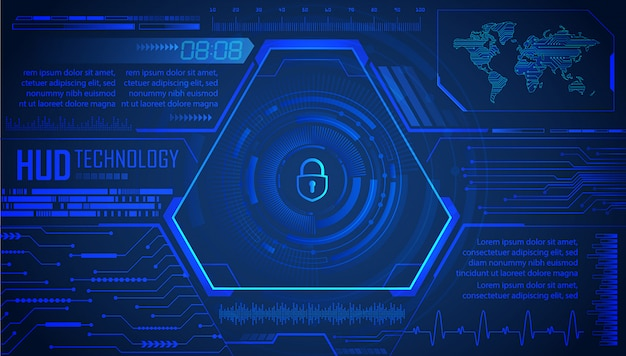 Hud blue world cyber circuit future technologie concept background