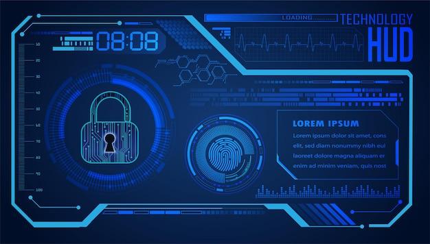 Hud cyber circuit futur concept de technologie fond