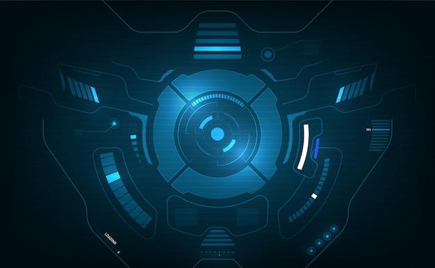 Hud interface système d'avion écran graphique concept innovation design fond