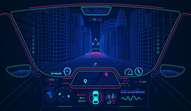 Hud de voiture intelligente