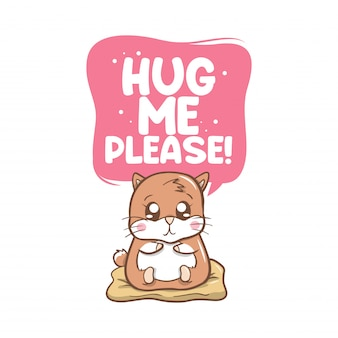 Hug me plese avec des cochons d'inde mignons
