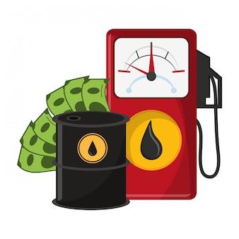 Huile de bureau et pétrole