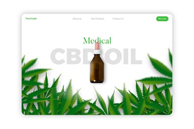 Huile de cannabis - page de destination
