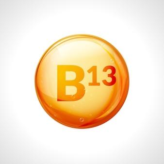 Huile de goutte de vitamine b13. médecine de santé acide orotique régime naturel b13 nutrition vitamine de soins alimentaires.