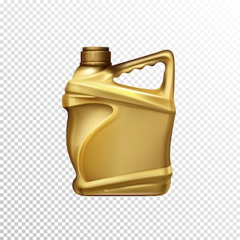 Huile de moteur, lubrifiant de voiture ou essence additif bouteille en plastique vierge 3d modèle vectoriel réaliste iso