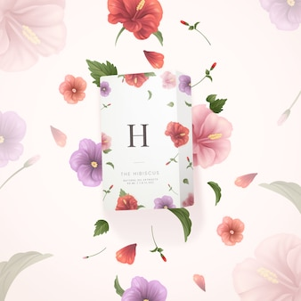 L'huile naturelle d'hibiscus extrait une annonce cosmétique
