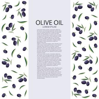 Huile d'olive sur fond blanc