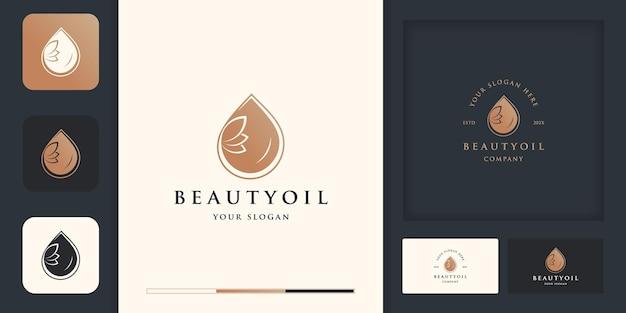Huile d'olive ou goutte d'eau de luxe pour la beauté, les cosmétiques, le yoga et le spa.