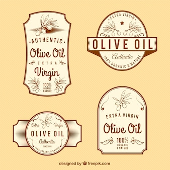 L'huile d'olive vintage labels