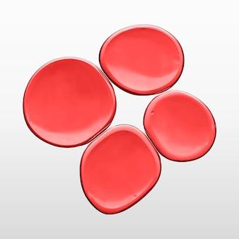 L'huile rouge bulle liquide macro shot vecteur globule rouge