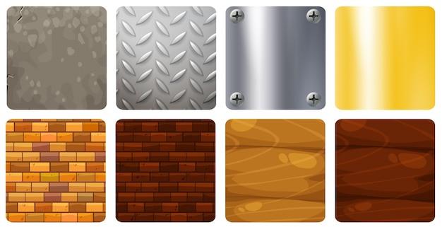 Huit arrière-plans de texture différents
