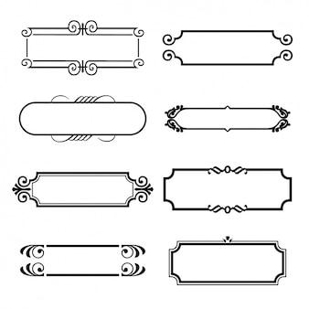 Huit cadres décoratifs