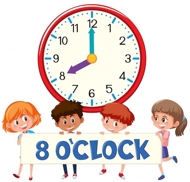Huit heures avec des enfants