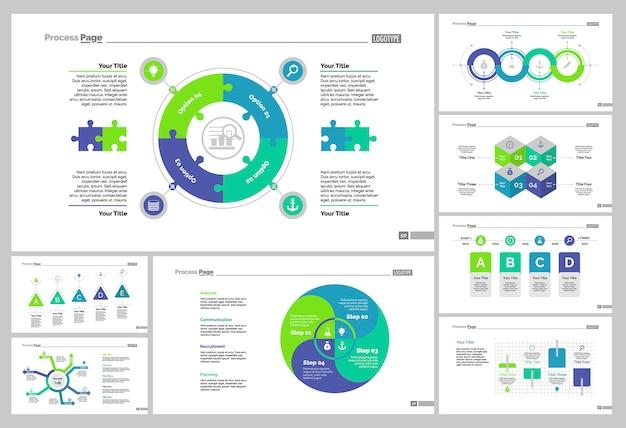 Huit modèles de diapositives de marketing