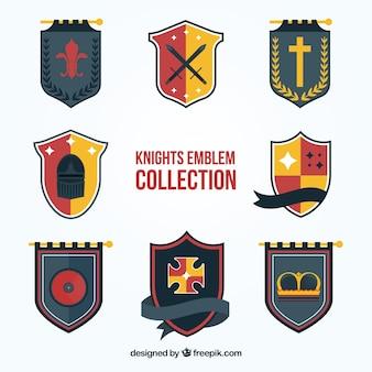 Huit modèles d'emblème chevalier