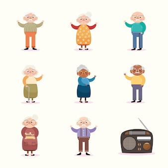 Huit personnages anciens