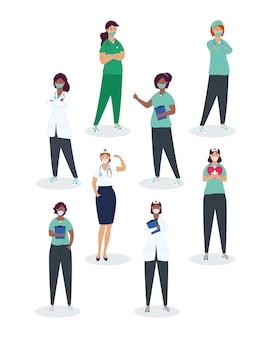 Huit professionnels de la santé