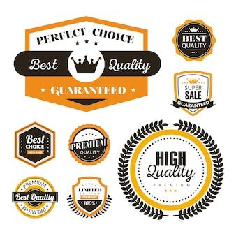 Huit sceaux de la meilleure qualité