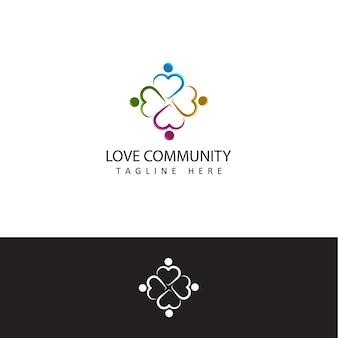 Humain social, unité, ensemble, connexion, relation, modèle de logo communautaire