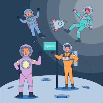 Les humains ont conquis l'espace